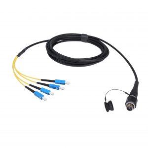 Konfektioniertes Kabel Mehrfaser-Steckverbinder-SC